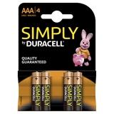 Duracell LR03 4-BL Simply Alcalino 1.5V