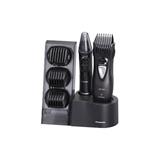 Panasonic ER GY10, Kit multigrooming per barba, capelli e corpo, 4 pettini accessori, Wet&Dry, Nero/Silve