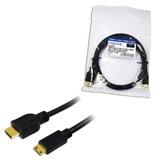 LogiLink CH0022 cavo HDMI 1,5 m HDMI tipo A (Standard) HDMI Type C (Mini) Nero