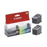 Canon PG 40 / CL 41 Originale Ciano per foto, Magenta per foto, Nero, Giallo foto Multipack 2 pezzo(i)