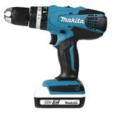 Makita HP457DWE trapano Senza chiave Nero, Blu 1,7 kg