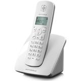 Motorola C401E DECT Identificatore di chiamata Grigio, Bianco