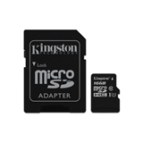 KINGSTON 16GB MICROSDXC CLASS 10 UHS-I 45MB/S READ CARD + SD ADAPTER