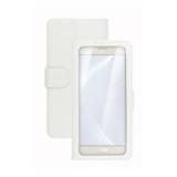 Celly Unica View custodia per cellulare 11,4 cm (4.5) Custodia a libro Bianco