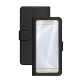Celly Unica View custodia per cellulare 12,7 cm (5) Custodia a libro Nero