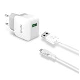 Celly TCUSBMICRO Caricabatterie per dispositivi mobili Interno Bianco