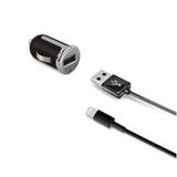 Celly CCUSBLIGHT Caricabatterie per dispositivi mobili Auto Nero