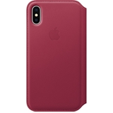APPLE IPHONE X LTH FOLIO - BERRY