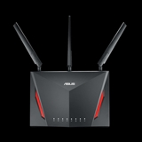 ASUS RT AC2900 router wireless Dual band (2.4 GHz/5 GHz) Gigabit Ethernet Nero