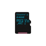 Kingston 64GB microSD Class U3 UHS-I 90R/45W