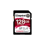 Kingston SDXC Canvas React 128GB 100R/80W CL10 UHS-I U3 V30 A1