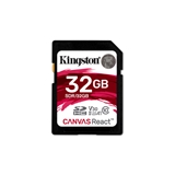 Kingston SDHC Canvas React 32GB 100R/70W CL10 UHS-I U3 V30 A1