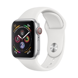 Apple Watch Series 4 smartwatch, 40 mm, Argento OLED Cellulare GPS (satellitare)