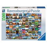 Ravensburger 16319 Classic Puzzle 99 the most beautiful places of world, 1500 Teile