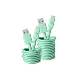 FRESH 'N REBEL FABRIQ USB TYPE C 3M PEPPERMINT