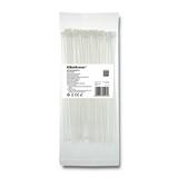 Qoltec 52195 fascetta Fascetta per scala Nylon Bianco 100 pezzo(i)