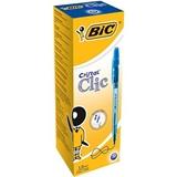 BIC Cristal Clic Blu Penna a sfera retrattile a clip Medio 20 pezzo(i)