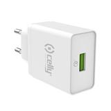 Celly TCUSBQC30WH Caricabatterie per dispositivi mobili Interno Bianco