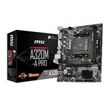 MSI A320M A PRO scheda madre Presa AM4 Micro ATX AMD A320