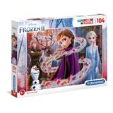 Clementoni Disney Frozen 2 Puzzle da pavimento 104 pezzo(i)