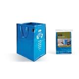 Perfetto 12853 cestino per rifiuti Rettangolare Blu Carta