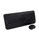 V7 Tastiera full size/poggiapolsi QWERTY inglese CKW300UK, nero