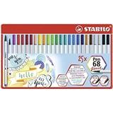 STABILO Pen 68 brush marcatore Multicolore 25 pezzo(i)