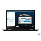 """Lenovo ThinkPad X13 Yoga Ibrido (2 in 1) Nero 33,8 cm (13.3"""") 1920 x 1080 Pixel Touch screen Intel® Core™ i5 di decima generazione 16 GB DDR4-SDRAM 512 GB SSD Wi-Fi 6 (802.11ax) Windows 10 Pro"""