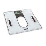 Zephir ZHS814 bilance pesapersone Quadrato Nero, Bianco Bilancia pesapersone elettronica