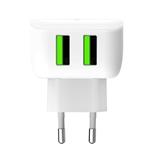 Celly TC2USBLEDWH Caricabatterie per dispositivi mobili Bianco Interno