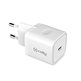 Celly TC1USBC20WWH Caricabatterie per dispositivi mobili Bianco Interno