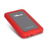 Hamlet USB 3.0 Mirror Disk box esterno per hard disk SATA 2,5'' rosso