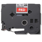 Brother Gloss Laminated Labelling Tape 12mm, White/Red nastro per etichettatrice TZ