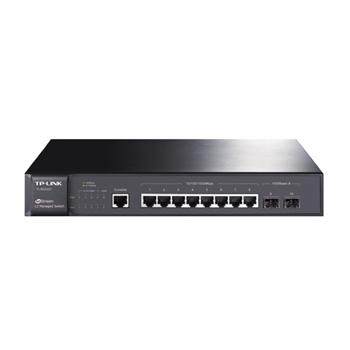 TP-LINK JetStream 8-Port Pure-Gigabit L2 Managed Switch 8x10/100/1000Mbps RJ45 Ports inkl. 2 Gigabit SFP Slots Port/Tag/MAC/Protocol