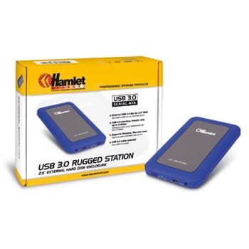 HAMLET BOX 2 5 USB3.0 RUGGED MIRROR BLU