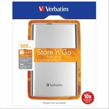 Hard disk esterno Verbatim 2,5 500GB USB 3.0 Silv/Bk AUTOALIMENTATO
