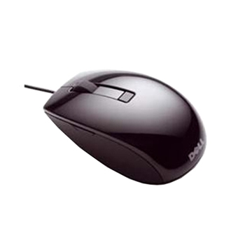 Mouse USB Dell Laser with Wheel 049TWY 6 button, silver and black