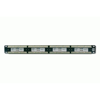 DIGITUS Patch Panel 19inch 24Port Cat6 unshielded black RAL 9005 cableinstallation about LSA without LSA cover