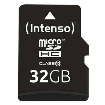 INTENSO MICRO SD CARD 32GB CON ADATTATORE