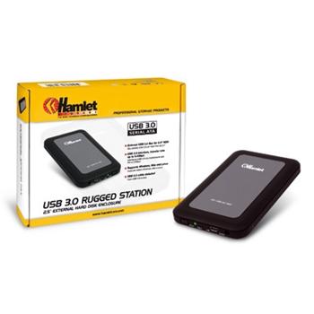 HAMLET BOX 2.5 USB3 RUGGED MIRROR BLACK
