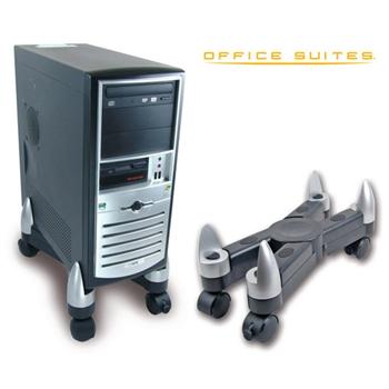 Fellowes 8039001 supporto per CPU PC Nero, Argento