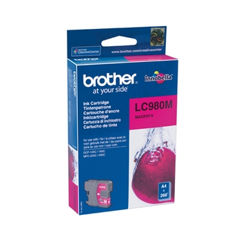 BROTHER LC-980 ink cartridge magenta standard capacity 5,5ml 260 pages 1-pack