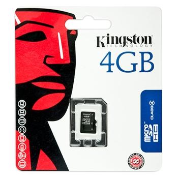 Kingston Technology 4GB microSDHC 4GB MicroSD memoria flash