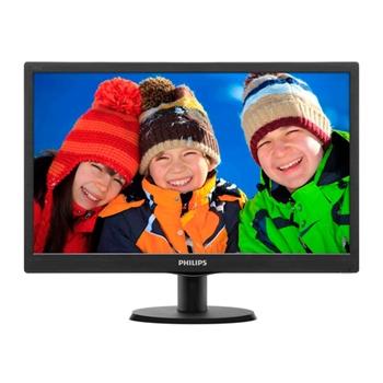PHILIPS 193V5LSB2 Ecran LED 19p 16/9 VGA 1366x768 200cd/m2 5ms pied inclinable