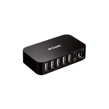 D-Link DUB-H7 USB 2.0 Type-B 480 Mbit/s Nero