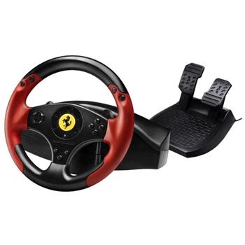 Thrustmaster Ferrari Racing Wheel Red Legend PS3&PC Sterzo + Pedali PC,Playstation 3 Nero, Rosso