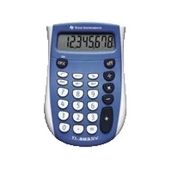 Texas Instruments TI-503 SV tasca Basic calculator Blu, Bianco
