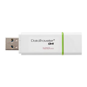 Kingston Technology DataTraveler G4 128GB 128GB USB 3.0 (3.1 Gen 1) Tipo-A Verde, Bianco unità flash USB