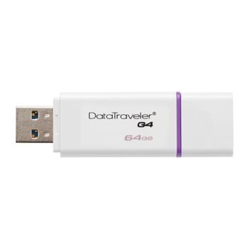 Kingston Technology DataTraveler G4 64GB 64GB USB 3.0 (3.1 Gen 1) Tipo-A Porpora, Bianco unità flash USB