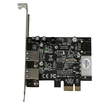 StarTech.com Adattatore scheda SuperSpeed USB 3.0 con 2 porte PCI Express (PCIe) con UASP - Alimentazione LP4